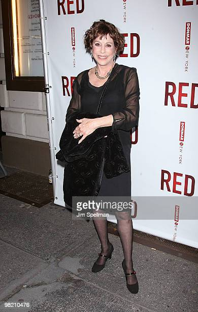 Louise Sorel attends the opening night of RED on Broadway at the Golden Theatre on April 1 2010 in New York City