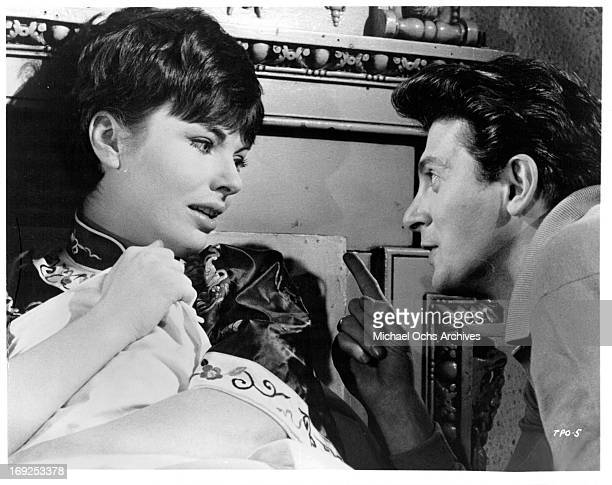 Louise Sorel is lectured by Clifford David in a scene from the film 'The Party's Over' 1965 Photo by Allied Artists/Getty Images