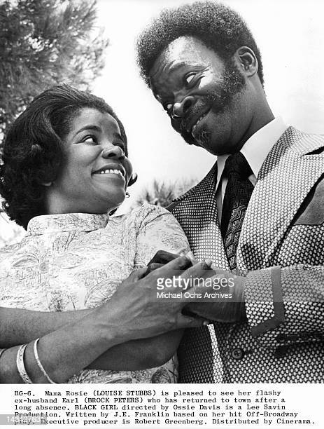 Louise Stubbs is pleased to see her ex husband Brock Peters who has returned to town after a long absence in scene from the film 'Black Girl' 1972