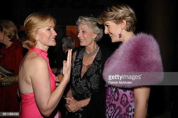 Louise T Blouin MacBain Ariane Dandois and Ondine de Rothschild attend Inaugural Dinner and Awards Presenation of the Louise T Blouin Foundation at...