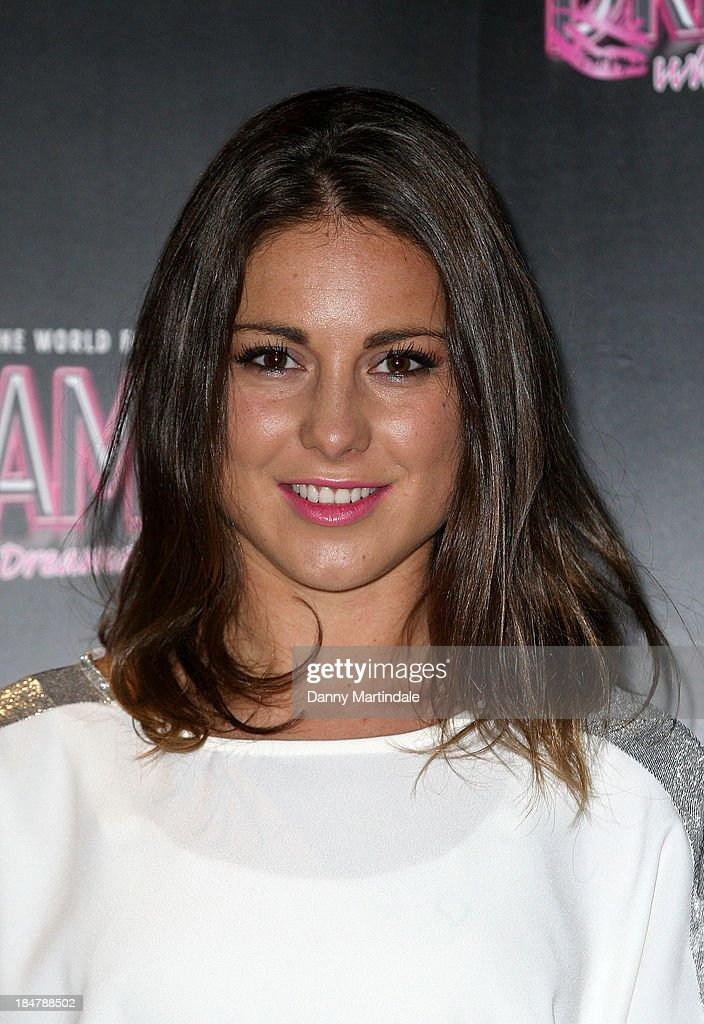 Louise Thompson attends as the Dreamboys hold a Gala performance at Rise Supperclub on October 16, 2013 in London, England.
