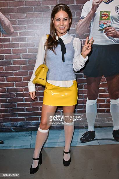 Louise Thompson attends the launch of Walkers Bring It Back Campaign at Vinopolis on September 3 2015 in London England