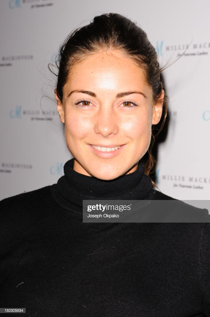 Louise Thompson from the cast of Made in Chelsea attends the launch of Millie Mackintosh's Nouveau lashes at Sanctum Soho on September 18, 2012 in London, England.