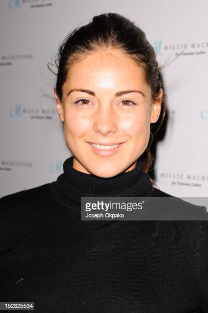 Louise Thompson from the cast of Made in Chelsea attends the launch of Millie Mackintosh's Nouveau lashes at Sanctum Soho on September 18 2012 in...