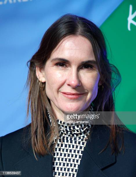 Louise Trotter attends Lacoste x Keith Haring collaboration launch at Pioneer Works on March 26 2019 in New York City