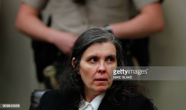 Louise Turpin appears in court on January 24 2018 in Riverside California David Allen Turpin and his wife Louise Anna Turpin 49 who had registered...