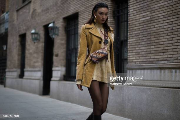 Louise Wong is seen attending Marc Jacobs during New York Fashion Week wearing Marc Jacobs on September 13 2017 in New York City