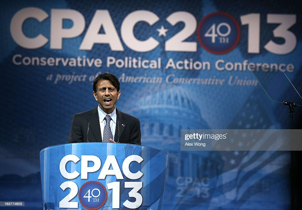 Louisiana Governor Bobby Jindal delivers remarks during the second day of the 40th annual Conservative Political Action Conference (CPAC) March 15, 2013 in National Harbor, Maryland. The American conservative Union held its annual conference in the suburb of Washington, DC, to rally conservatives and generate ideas.