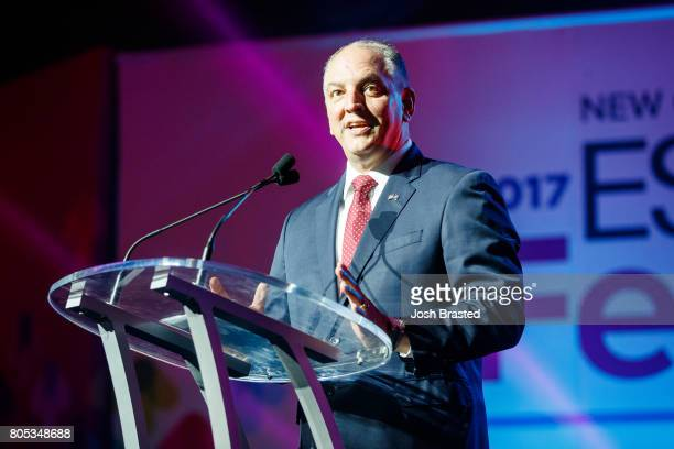 Louisiana Governor John Bel Edwards speaks at the 2017 ESSENCE Festival presented by CocaCola at Ernest N Morial Convention Center on June 30 2017 in...