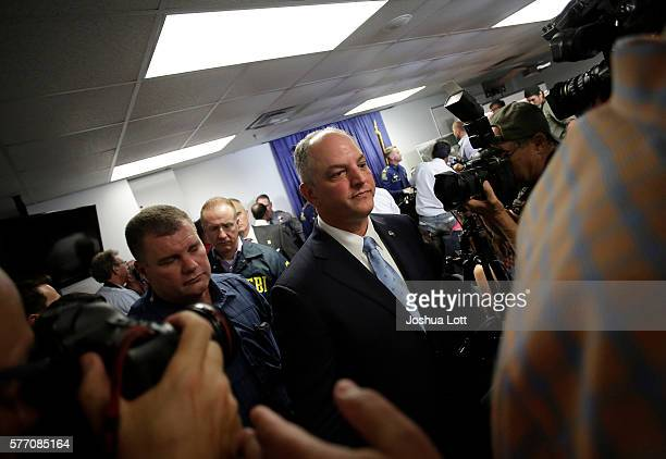 Louisiana Governor John Bel Edwards speaks leaves a news conference after speaking about three local police officers who were killed by gunman Gavin...