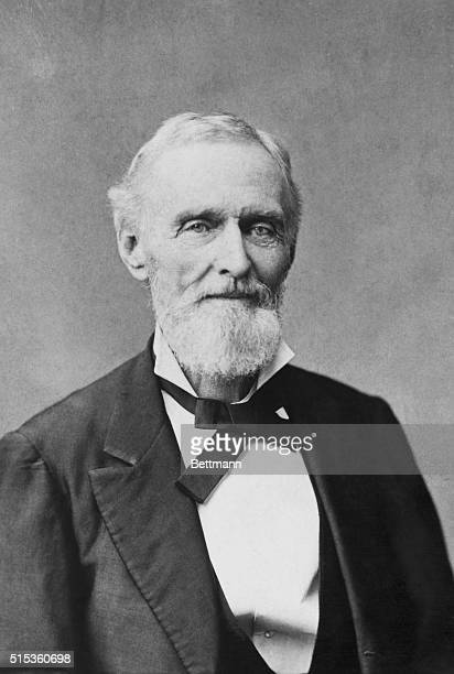 Louisiana: Jefferson Davis , President of the Confederate Southern Army. Photograph by Washburn, New Orleans.