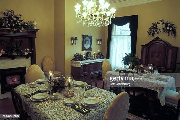 Louisiana Lake Charles RamseyCurtis Mansion Bed and BreakfaSt Victorian Queen Anne Dining Room