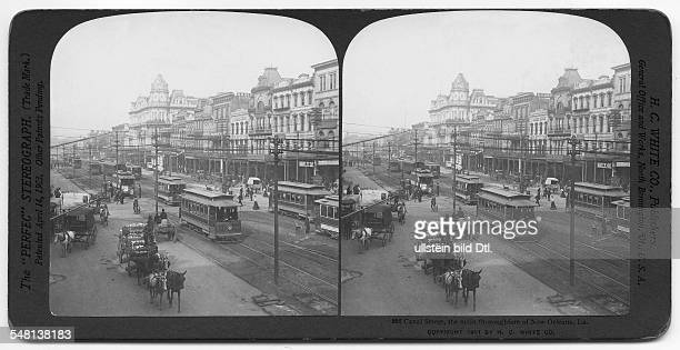Louisiana New Orleans: Busy traffic in the Canal Street - photo: The White Co., London - 1901 - Vintage property of ullstein bild