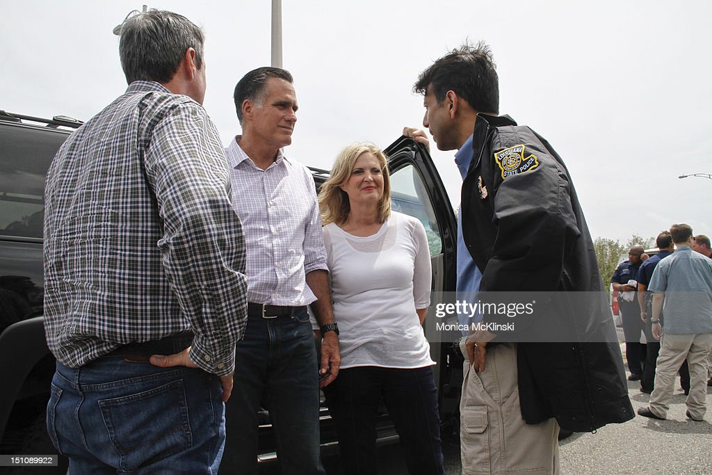 Mitt Romney And Ann Romney Tour Hurricane Isaac Damage Around New Orleans