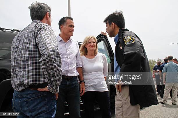 Louisiana Senator David Vitter, Republican Presidential Nominee and former Massachusetts Governor Mitt Romney, Ann Romney and Louisiana Governor...