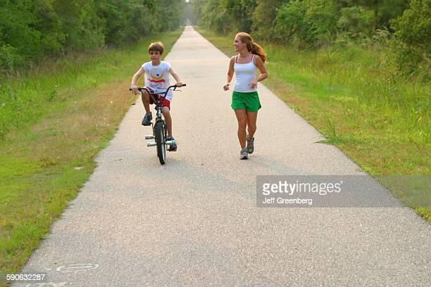 Louisiana St Tammany Parish Abita Springs Tammany Trace Jogging And Bicycling