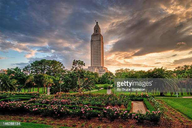 Louisiana State Capital at sunset