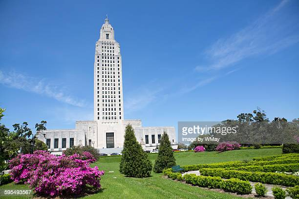 louisiana state capital building - baton rouge stock pictures, royalty-free photos & images