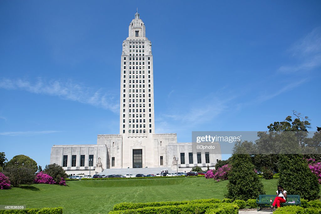 Louisiana State Capital in Baton Rouge : Stock Photo