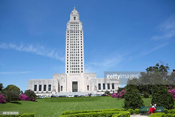 louisiana state capital in baton rouge - capital cities stock photos and pictures