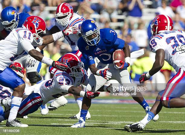 Louisiana Tech Bulldogs defensive back Lloyd Grogan Louisiana Tech Bulldogs defensive back Kentrell Brice and Louisiana Tech Bulldogs defensive back...
