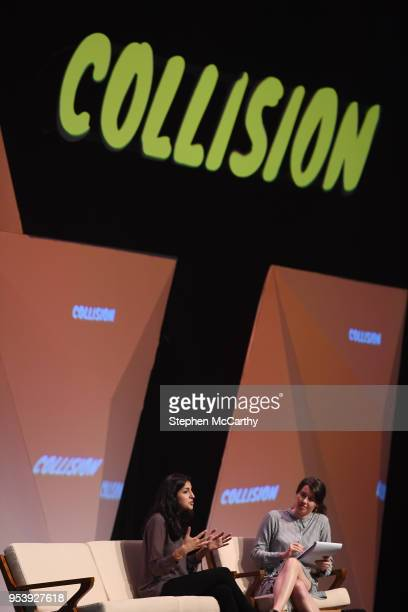 Louisiana United States 2 May 2018 From left Anjali Sud CEO Vimeo and Erin Griffith Senior Writer WIRED on centre stage during day two of Collision...