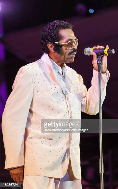 Louisiana-born Blues and R&B musician Bobby Rush does his Elvis Presley impersonation at the 30th Annual Roots of American Music Festival on the...
