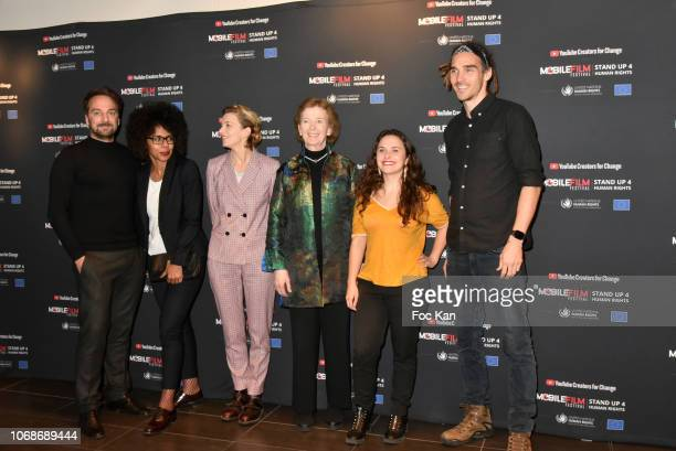 LouisJulien Petit Audrey Pulvar Celine Sallette former Irish president Mary Robinson Youtube founders Swann Perisse and Louis Cole attend 'Mobile...