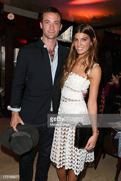 Louis-Marie Castelbajac and Bianca Brandolini d'Adda attend the Eugenie Niarchos First Jewelry Collection Launch Cocktail on July 1, 2013 in Paris,...