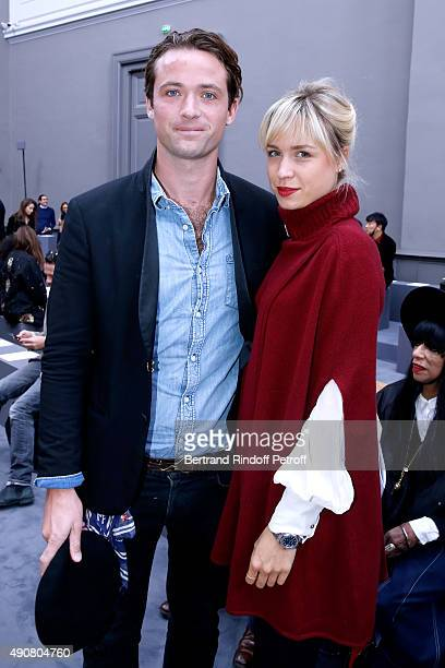 LouisMarie de Castelbajac and AnneSophie Mignaux attend the Chloe show as part of the Paris Fashion Week Womenswear Spring/Summer 2016 Held at Grand...