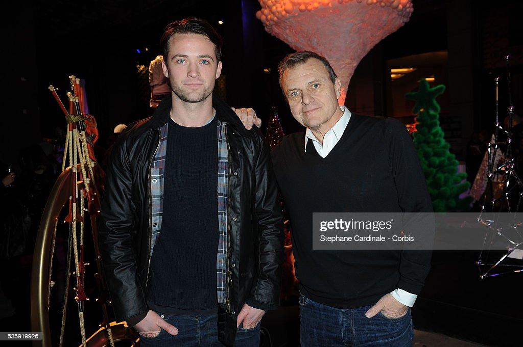 Louis-Marie de Castelbajac and Jean-Charles de Castelbajac attend 'Les Sapins de Noel des Createurs' in Paris.