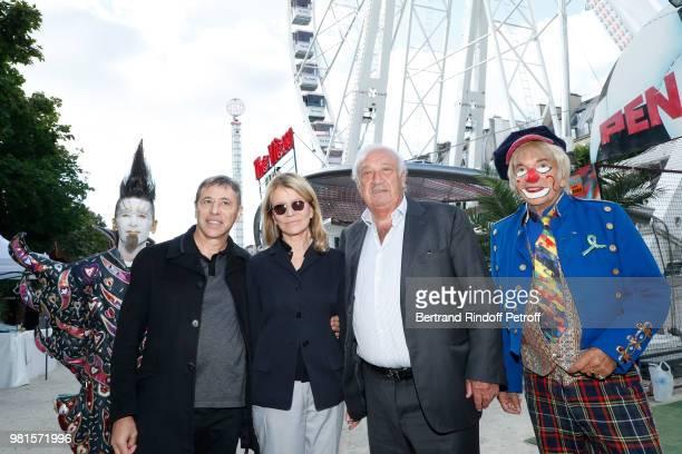 LouisMichel Colla Nicole Garcia and Marcel Campion attend the Fete Des Tuileries on June 22 2018 in Paris France
