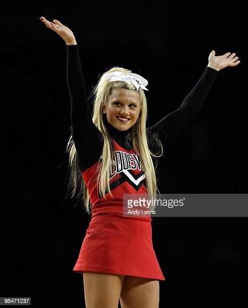 Louisville Cardinals cheerleader performs during the game against the Stetson Hatters on December 2, 2009 in Louisville, Kentucky.