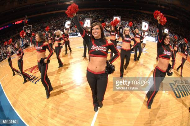 Louisville Cardinals dance team during a quarterfinal Big East Conferance Touranment college basketball game against the Providence Frairs at Madison...