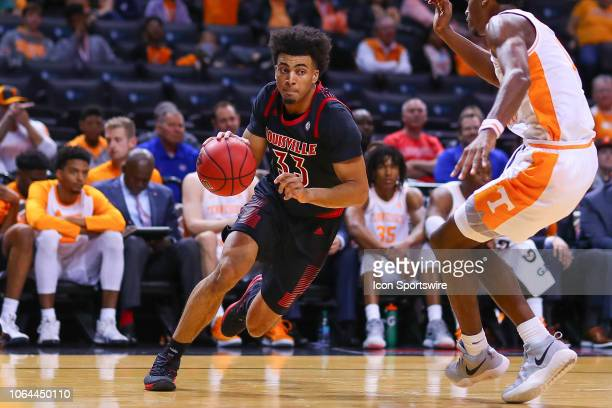 Louisville Cardinals forward Jordan Nwora during the first half of the NIT Season Tip Off College Basketball Game between the Louisville Cardinals...
