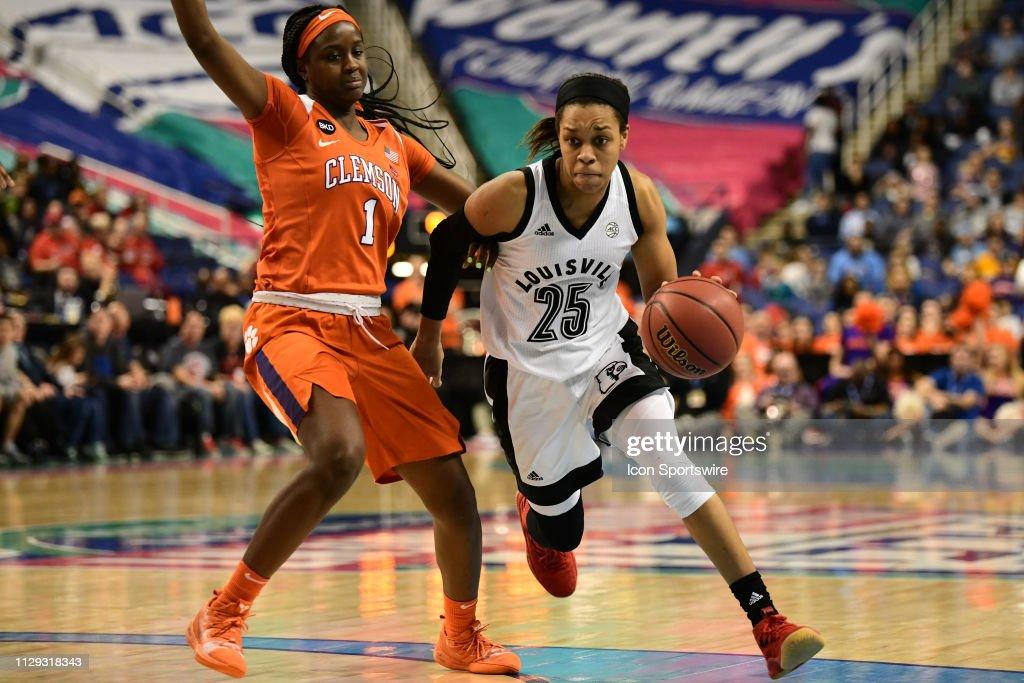 COLLEGE BASKETBALL: MAR 08 ACC Women's Tournament - Louisville v Clemson : News Photo