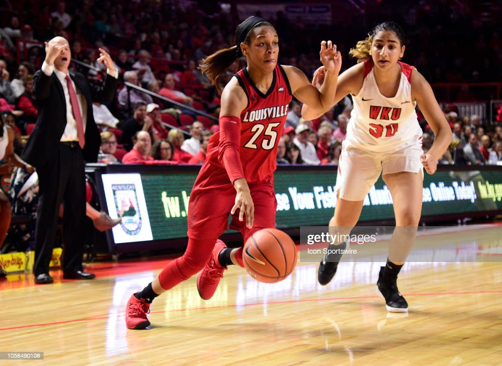 COLLEGE BASKETBALL: NOV 06 Women's - Louisville at Western Kentucky : News Photo