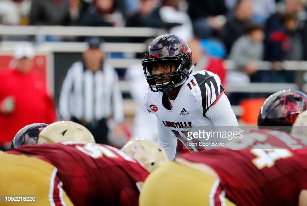 Louisville Cardinals safety Dee Smith during a game between the Boston College Eagles and the Louisville Cardinals on October 13 at Alumni Stadium in...