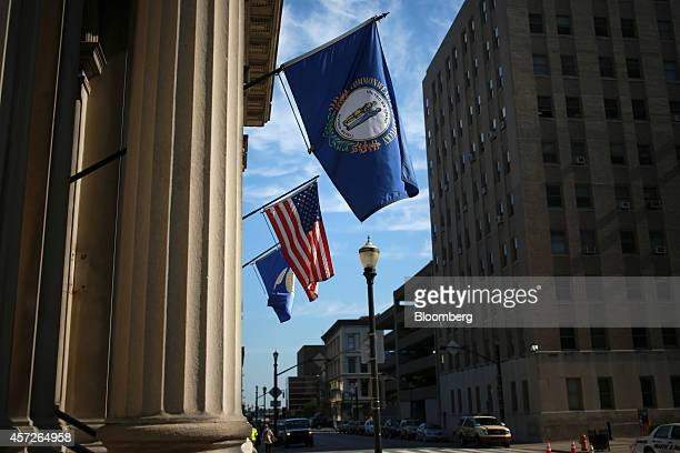 Louisville City Hall stands in downtown Louisville Kentucky US on Thursday Aug 14 2014 Louisville Mayor Greg Fischer is working with state and local...
