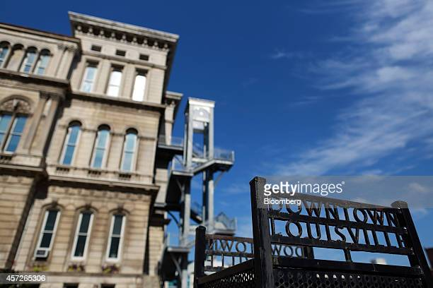 Louisville City Hall stands in downtown Louisville, Kentucky, U.S., on Thursday, Aug. 14, 2014. Louisville Mayor Greg Fischer is working with state...