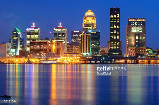 louisville cityscape / skyline - louisville kentucky stock pictures, royalty-free photos & images