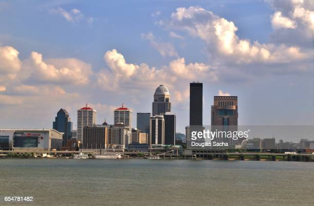 Louisville Kentucky skyline on the Ohio River