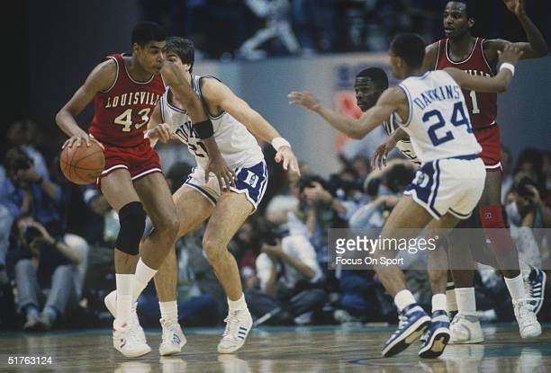 Louisville plays in against Duke University during the 1980s