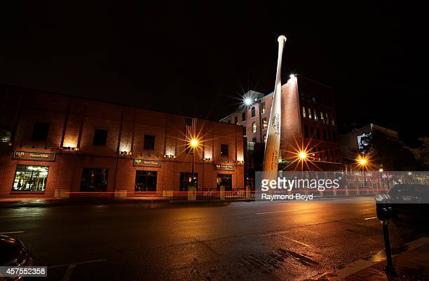Louisville Slugger Museum and Factory at night on October 03 2014 in Louisville Kentucky