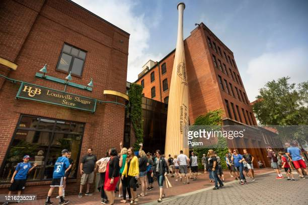 louisville slugger museum and factory in kentucky usa - slugger stock pictures, royalty-free photos & images