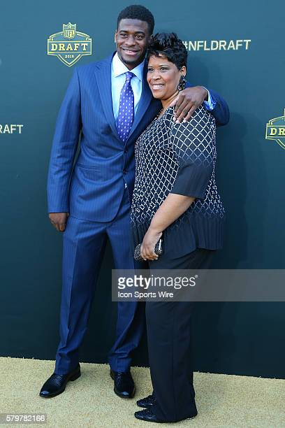 Louisville wide receiver DeVante Parker and his Mother Raneca Parker arrive on the Gold Carpet at the 2015 National Football League Draft The 2015...