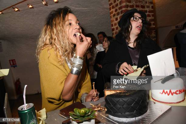 """Louisy Joseph and ABK ALexandra Boucherifi attend """"Attachiante"""" Chanez Concert and Birthday Party at Sentier des Halles Club on May 2, 2017 in Paris,..."""
