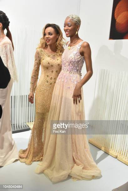 Louisy Joseph and Bourt Tracy attend the Christophe Guillarme show as part of the Paris Fashion Week Womenswear Spring/Summer 2019 on October 2 2018...