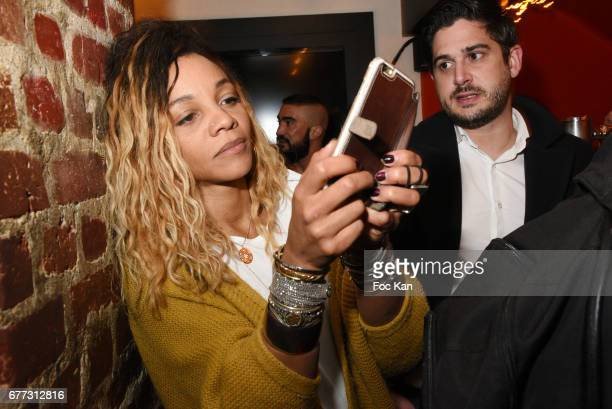 Louisy Joseph attends 'Attachiante' Chanez Concert and Birthday Party at Sentier des Halles Club on May 2 2017 in Paris France