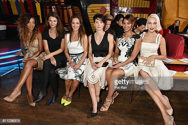 Louisy Joseph, Stephanie Pasterkamp, Emmanuelle Boidron, Laetitia Fourcade, Alicia Fall and Clizia Incorvaia attend the Christophe Guillarme show as...
